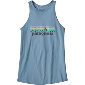 Patagonia Pastel P-6 Logo Organic Camiseta sin mangas de cuello alto Mujer, berlin blue